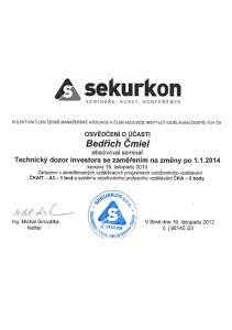 Certifikát Sekurkon